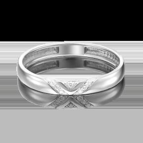 Обручальное кольцо из платины с бриллиантом 01-1528-00-101-2100-30