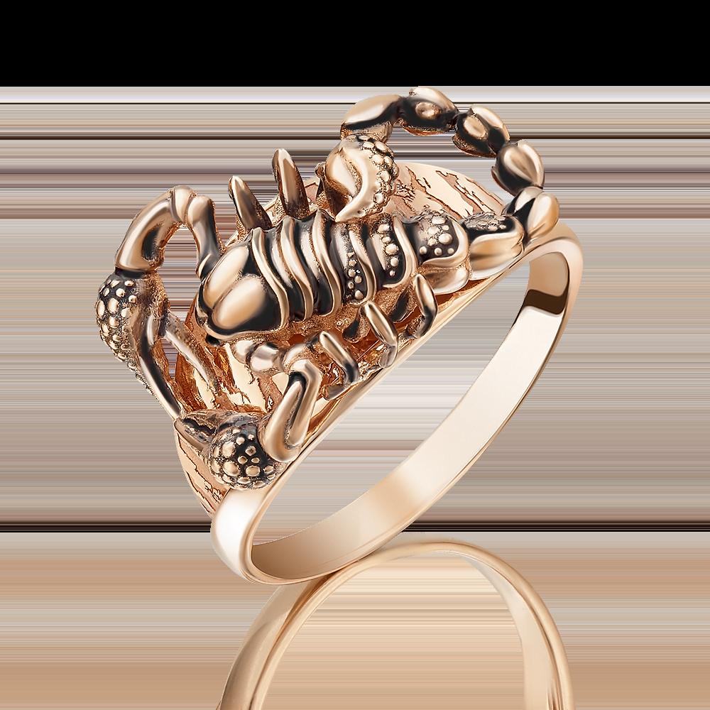 Кольцо из красного золота с эмалью 01-5089-00-000-1110-59