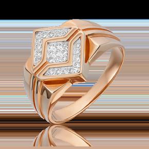 Кольцо из красного золота с бриллиантом 01-1783-00-101-1110-30