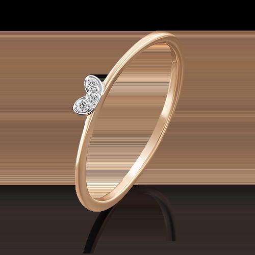 Кольцо из красного золота с фианитом 01-4770-05-401-1110-03