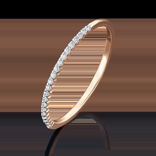 Кольцо из красного золота фианитом 01-4770-02-401-1110-23