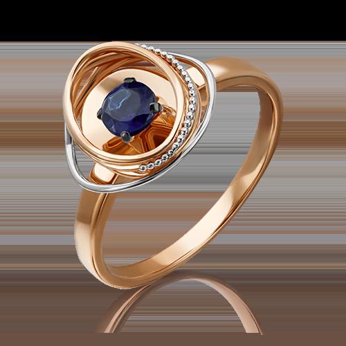 Кольцо из красного золота сапфиром 01-5242-00-102-1110-30