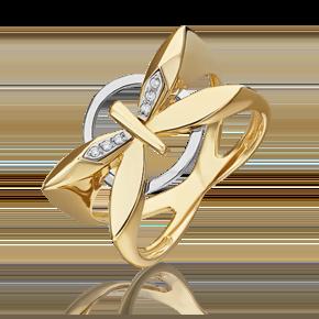 Кольцо из лимонного золота с бриллиантом 01-5493-00-101-1121
