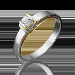 Помолвочное кольцо из лимонного золота с бриллиантом 01-5171-00-101-1121-30