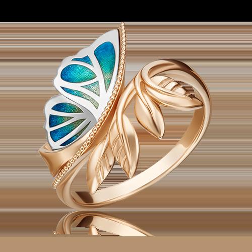 Кольцо из комбинированного золота с эмалью 01-5462-00-000-1111-74