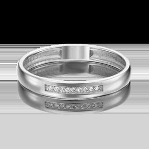 Обручальное кольцо из платины с бриллиантом 01-1542-00-101-2100-30