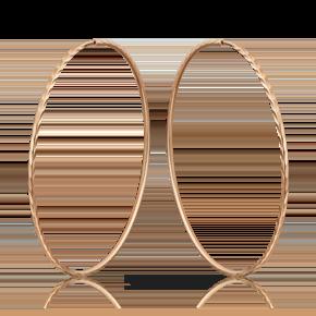 Серьги-конго из красного золота 02-0074-00-000-1110-19