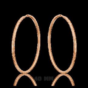 Серьги-конго из красного золота 02-0074-01-000-1110-19