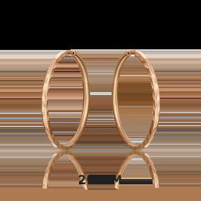 Серьги-конго из красного золота 02-0074-02-000-1110-19
