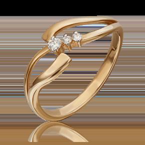 Кольцо из красного золота с бриллиантом 01-1096-00-101-1110-30