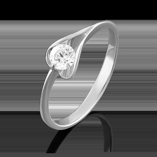 Кольцо из белого золота бриллиантом 01-4969-00-101-1120-30