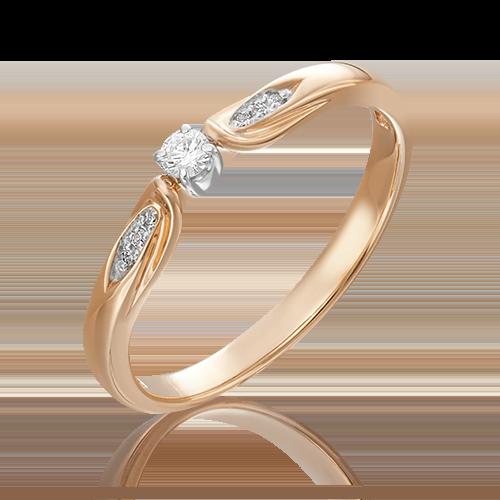 Кольцо из комбинированного золота бриллиантом 01-4970-00-101-1111-30