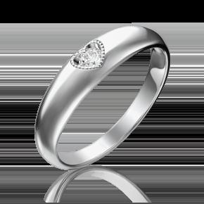 Помолвочное кольцо из белого золота с бриллиантом 01-5161-00-101-1120-30