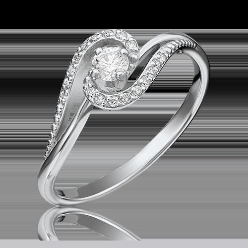 Кольцо из белого золота с бриллиантом 01-1500-00-101-1120-30