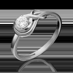 Кольцо из белого золота с бриллиантом 01-5343-00-101-1120-30