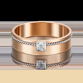 Кольцо из комбинированного золота с бриллиантом 01-5283-00-101-1111-30