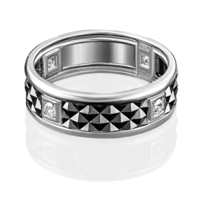 Кольцо из белого золота с фианитом 01-4711-00-401-1120-22