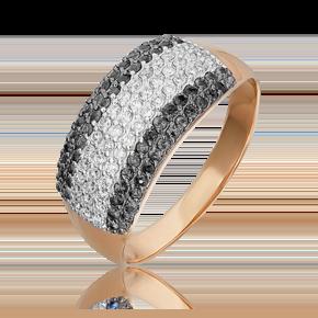 Кольцо из красного золота с бриллиантом 01-1489-01-108-1110-30