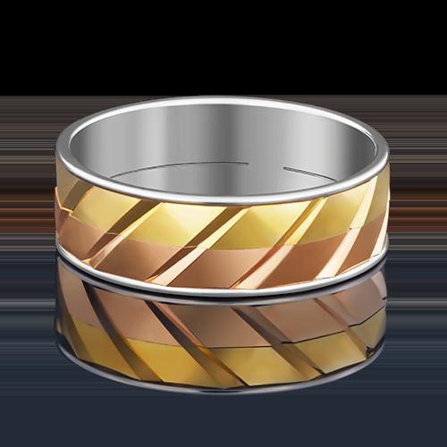Обручальное кольцо из комбинированного золота 01-4892-00-000-1140-39