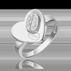 Кольцо из белого золота с топазом white 01-5564-00-201-1120