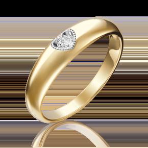 Помолвочное кольцо из лимонного золота с бриллиантом 01-5161-00-101-1130-30