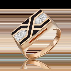 Кольцо из красного золота с бриллиантом 01-1874-00-101-1110-30