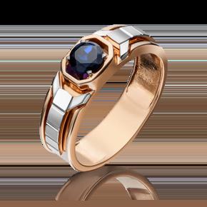 Кольцо из комбинированного золота с сапфиром 01-5255-00-102-1111-30