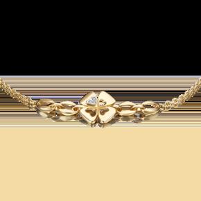 Браслет из лимонного золота с бриллиантом 05-0697-00-101-1121