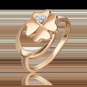 Кольцо из комбинированного золота с бриллиантом 01-5498-00-101-1111