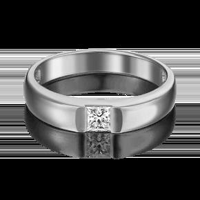 Обручальное кольцо из белого золота с бриллиантом 01-1270-00-101-1120-30