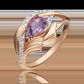 Кольцо из красного золота с аметистом и топазом white 01-5378-00-225-1110-57
