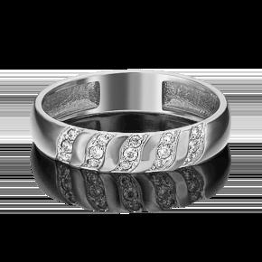 Обручальное кольцо из белого золота с бриллиантом 01-1488-00-101-1120-30