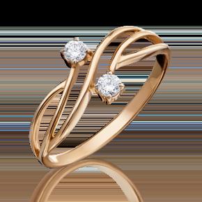 Кольцо из красного золота с бриллиантом 01-0811-00-101-1110-30