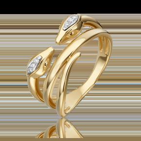 Кольцо из лимонного золота с бриллиантом 01-5499-00-101-1121