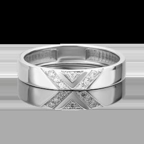 Обручальное кольцо из платины с бриллиантом 01-1618-00-101-2100-30