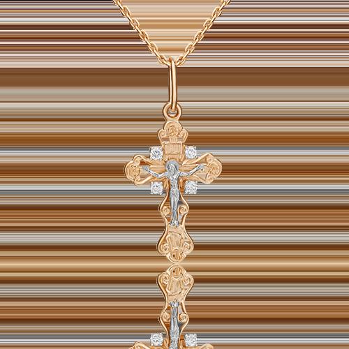 Подвеска из комбинированного золота с бриллиантом 03-0369-00-101-1111-30