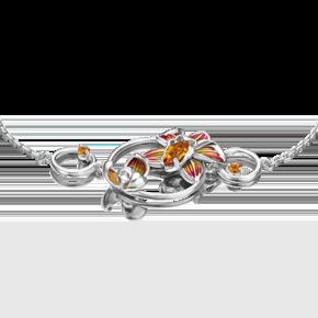 Браслет из серебра с цитрином и эмалью 05-0691-00-206-0200-68