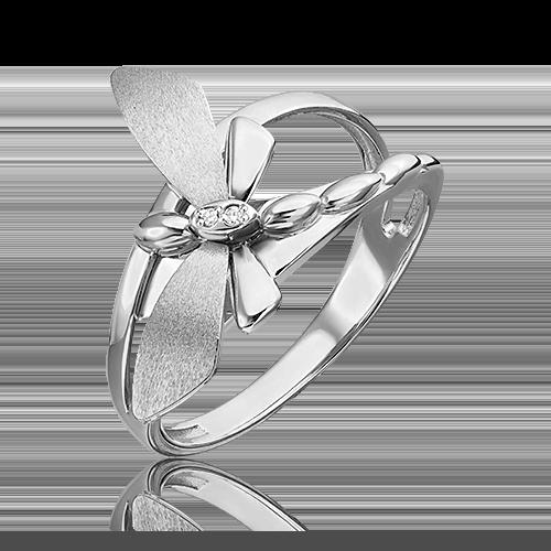 Кольцо из белого золота с бриллиантом 01-5494-00-101-1120