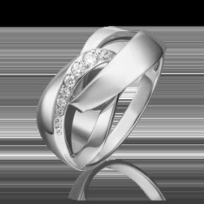 Кольцо из белого золота с фианитом 01-5403-00-401-1120-03