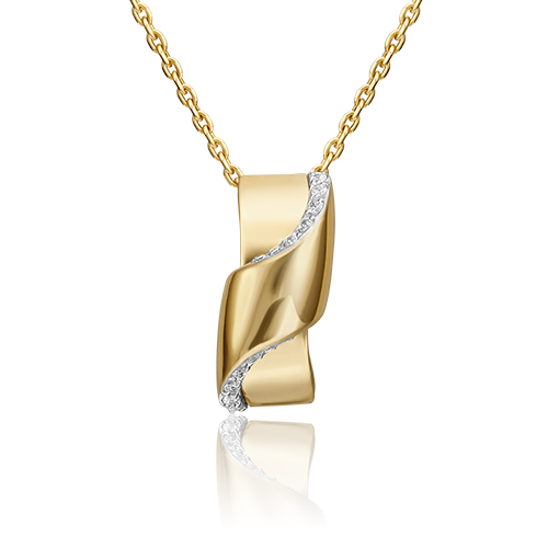 Подвеска из лимонного золота с фианитом 03-3150-00-401-1130-23