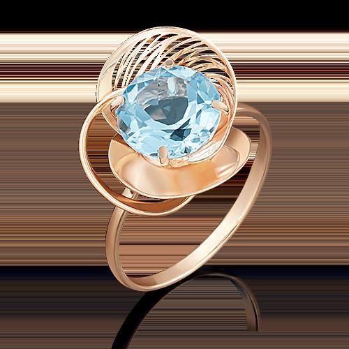 Кольцо из красного золота с топазом 01-4968-00-201-1110-46