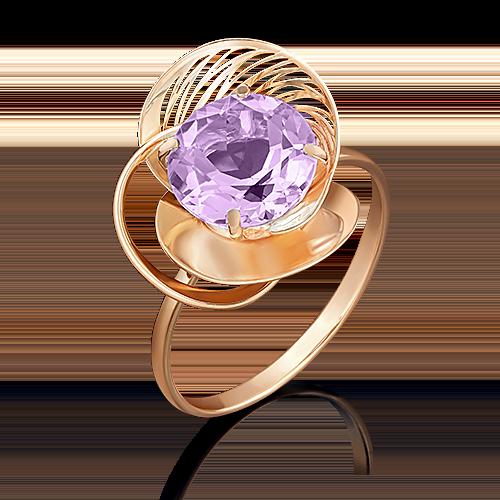 Кольцо из красного золота аметистом 01-4968-00-203-1110-46