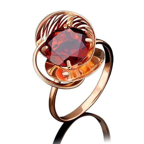 Кольцо из красного золота гранатом 01-4968-00-204-1110-46