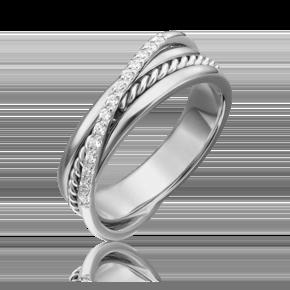 Кольцо из белого золота с бриллиантом 01-5270-00-101-1120-30
