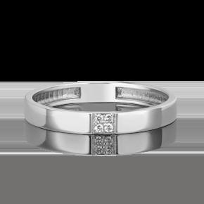 Обручальное кольцо из платины с бриллиантом 01-1617-00-101-2100-30