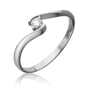 Кольцо из белого золота с бриллиантом 01-0691-00-101-1120-30