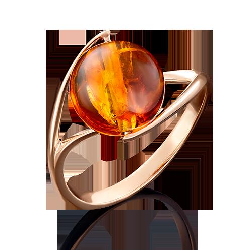 Кольцо из красного золота с янтарём 01-4936-00-271-1110-46