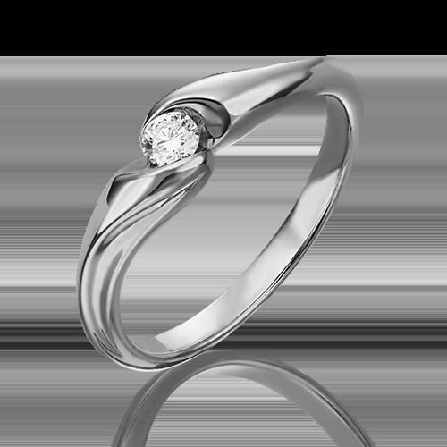 Помолвочное кольцо из белого золота с бриллиантом 01-4938-00-101-1120-30