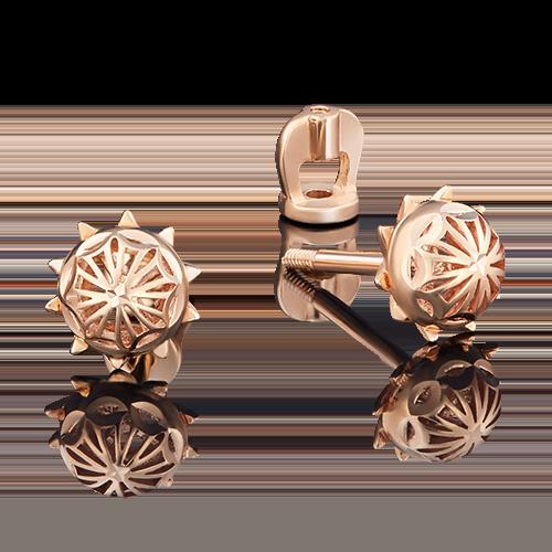 Серьги-пусеты из красного золота 02-3818-00-000-1110-48