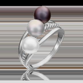 Кольцо из белого золота с жемчугом культивированным 01-5331-01-301-1120-31